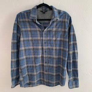 Volcom Button Down Plaid Flannel Shirt L